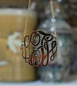 Big Slim Gold Monogram Necklace by Purple Mermaid Designs ...