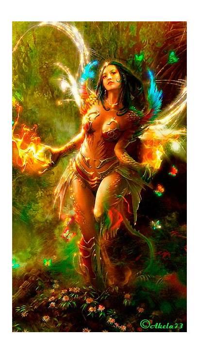 Fantasy Gifs Goddess Fairies Magic Fire Fairy