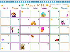 Calendario Multicolor Marzo 2018 Calendario Multicolor