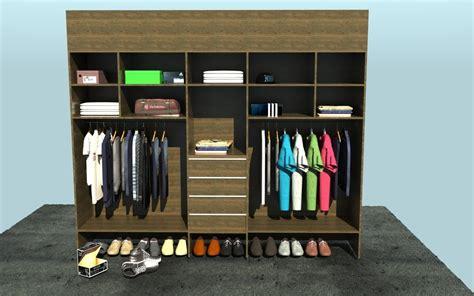D Closet by Open Closet 3d Model Skp Cgtrader