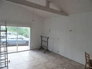 l39amenagement du garage 1ere couche de peinture et With amenagement garage en chambre