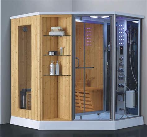 wet dry douche  vapeur sauna bain douche cabine en bois