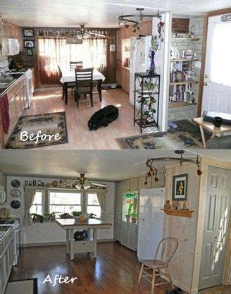 single wide mobile home remodel diymakeoversmall kitchen painted