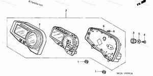Honda Motorcycle 2002 Oem Parts Diagram For Meter  2