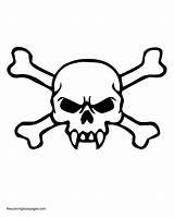 Coloring Skull Crossbones Bones Evil Drawing Skulls Fangs Template Clip Clipart Sketch Pdf Getdrawings sketch template