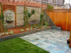 Back Yard Ideas with Brick Wall