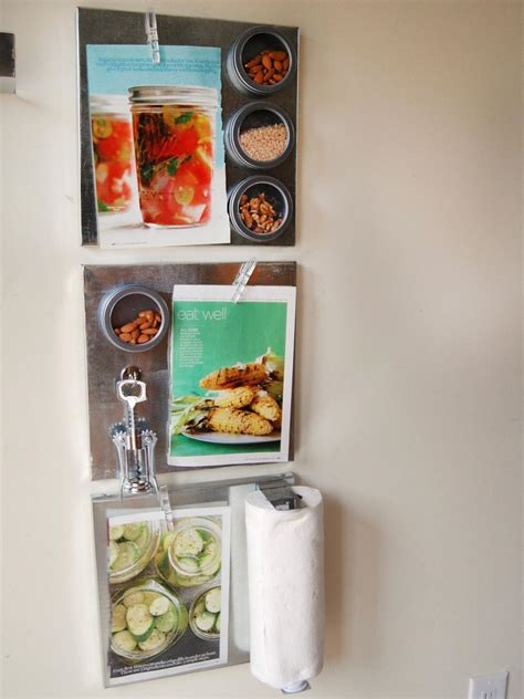 magnetic board for kitchen maximize space with diy magnetic shelves in the kitchen hgtv 7315