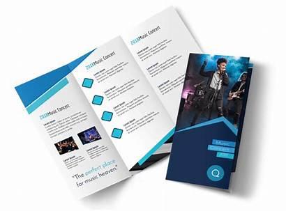 Brochure Template Fold Tri Concert Templates Brochures