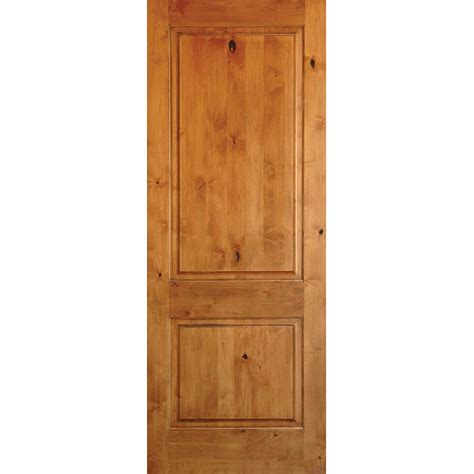 wood interior doors home depot krosswood doors 24 in x 80 in rustic knotty alder 2