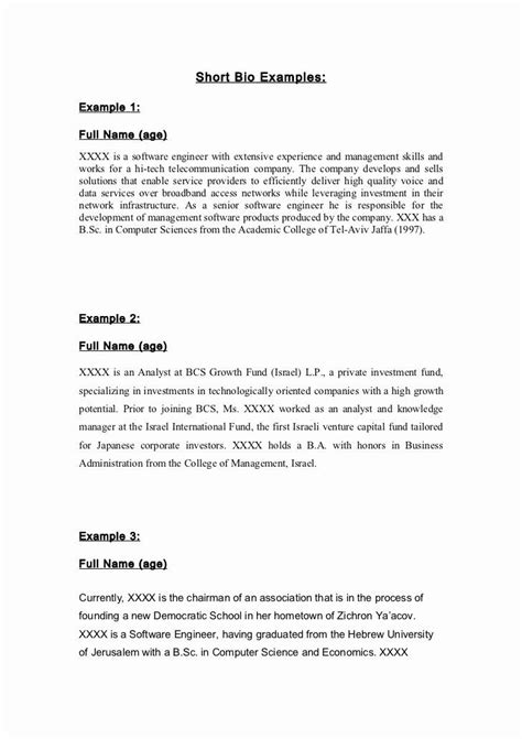 air force position paper template awesome   short army bio template  short bio