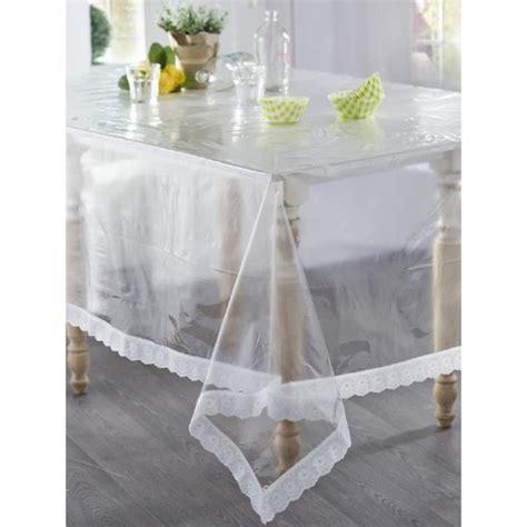 nappe en plastique ovale 140x225 transparente dentelle achat vente nappe de table cdiscount