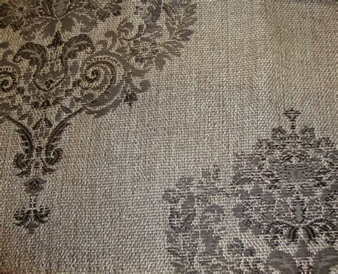 Drapery Fabric By The Yard by 55 Quot Wide Damask Metallic Sparkle Upholstery