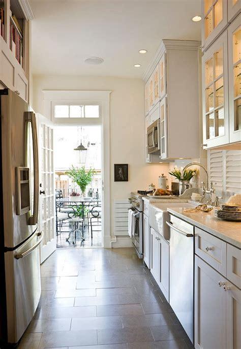 White Galley Kitchen  Transitional  Kitchen Benjamin