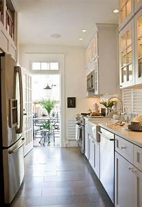 White Galley Kitchen - Transitional - kitchen - Benjamin ...