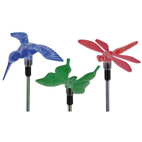 harbor freight solar lights solar garden light set dragonfly hummingbird butterfly