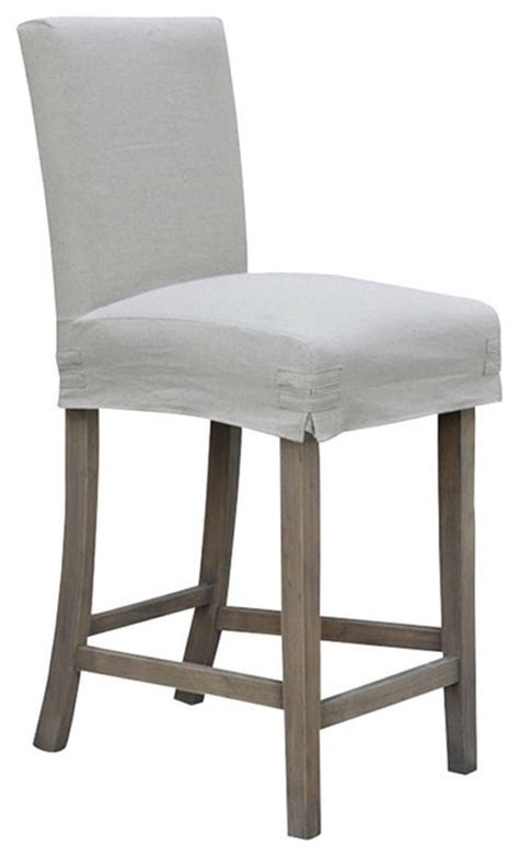 """24"""" Counterstool With Slipcover  Contemporary Bar"""