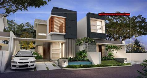 desain rumah modern  lantai