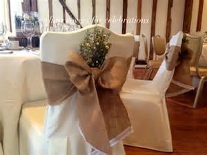 burlap chair sash wedding ideas chair covers