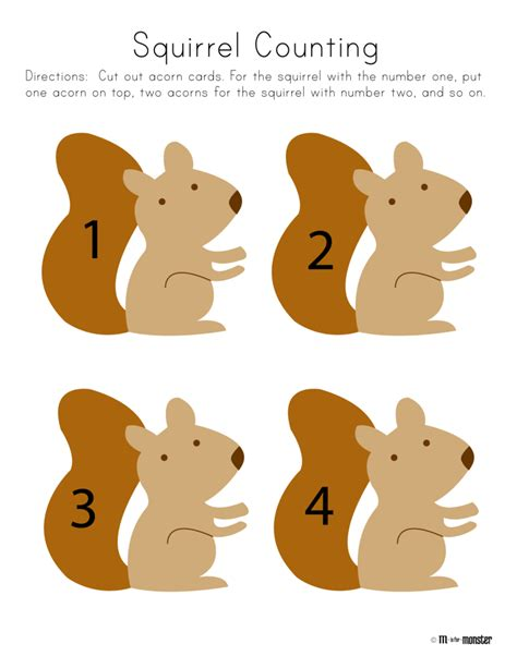 squirrel week free printable m is for 940 | SquirrelCounting 01 791x1024