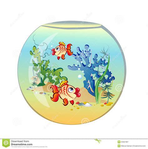 aquarium rond avec des poissons photographie stock libre de droits image 23367987