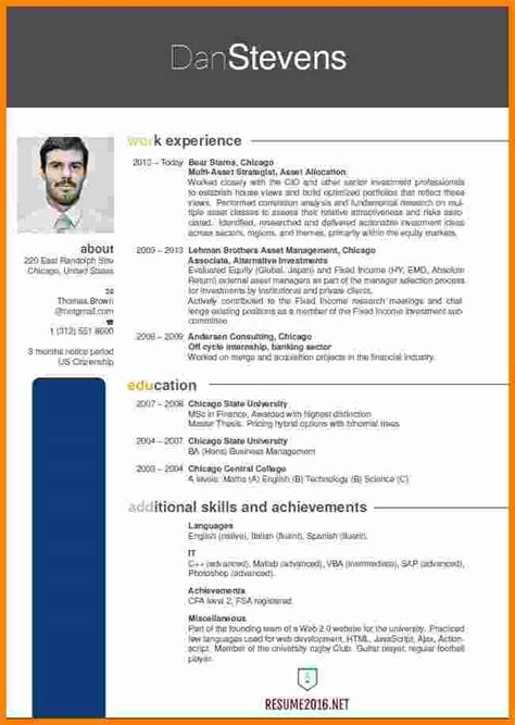 Updated Model Of A Resume by 5 Resume Format 2016 Free Ledger Paper
