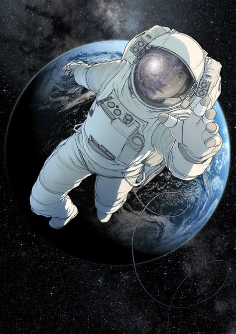 astronaut in space drawing astronaut pics about space