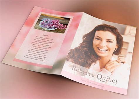 glamour funeral program template inspiks market