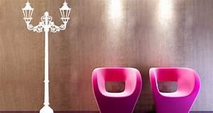 Lampadaire Art Deco : stickers muraux lampadaire art d co sticker d coration murale ~ Teatrodelosmanantiales.com Idées de Décoration