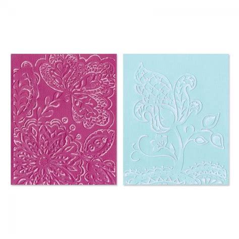 Sizzix Set 2 Carpetas Texturadora Groovy Flowers
