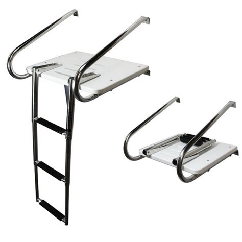 Boat Swim Platform And Ladder by Fiberglass Boat Swim Platform Ladder Stainless 2 Rails 3