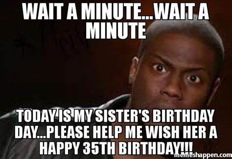 Birthday Memes For Sister - birthday memes for sister 28 images happy birthday sister in law quotes and meme hubpages