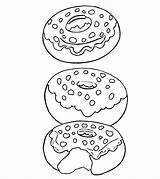 Coloring Donut Pages Colouring Toddler Template Popular sketch template