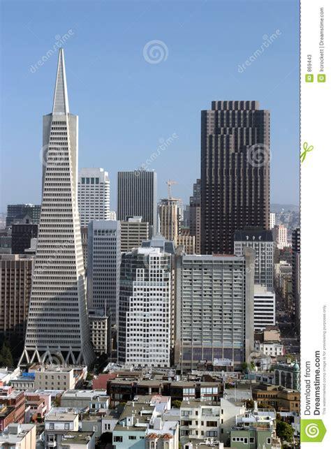 tallest buildings  san francisco editorial stock