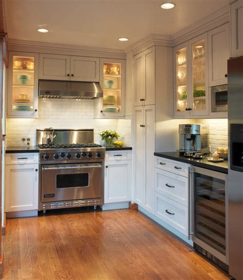 inside kitchen cabinet lighting ideas old mill park traditional kitchen san francisco by