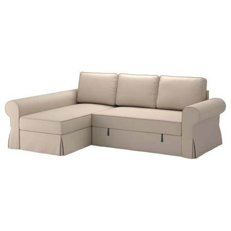 ikéa chaise backabro cover sofa bed with chaise longue ramna beige ikea