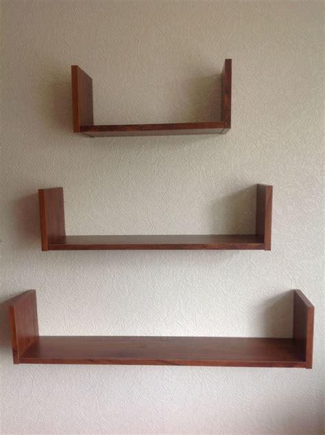 Adjustable Wall Mount Wood Shelves