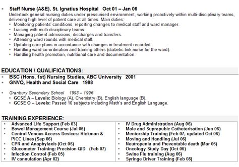 Nursing Cv by Nursing Cv Sle