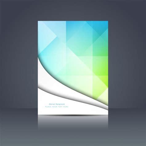 Colorful Polygonal Brochure Design Vector