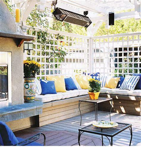 couleur dans une cuisine couleur terrasse extérieur idée déco terrasse extérieur