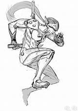 Genji Drawings Personnage sketch template