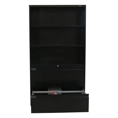 Bookcase With Lateral File Drawer by Global Used 2 Drawer Lateral File With Bookcase Black