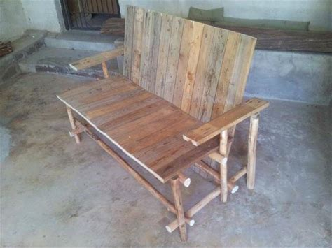 wood log bench diy inspired wood logs and pallet bench 99 pallets