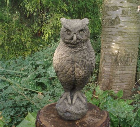 owl garden statue garden wise owl bird statue figure ornament ebay