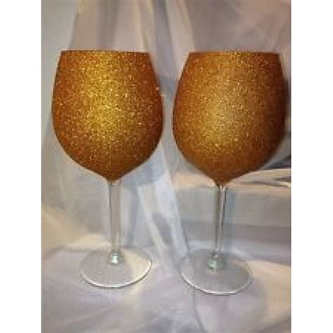 gold glitter martini glass  wine glass set