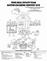 Coloring Contest Easter Estate Song Annual 1st Hundreds Directions Hope Artists Send Artwork Young sketch template