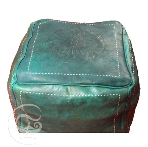 square leather pouf ottoman green square leather ottoman marrakech market