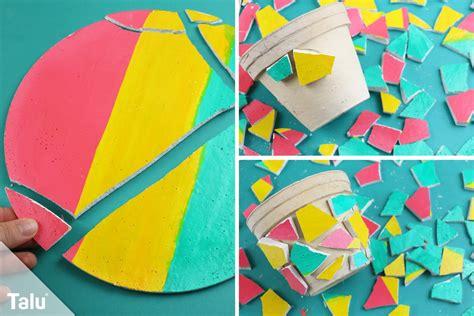 Le Aus Gips Selber Machen by Mosaik Selber Machen Bastel Ideen Mosaiksteine