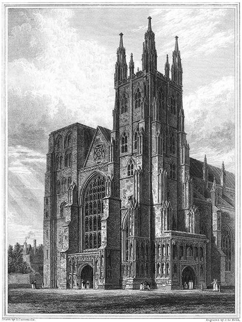 canterbury cathedral  western towers  book