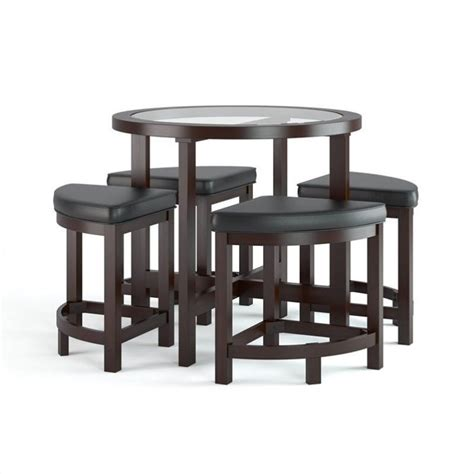 5 dining table chairs furniture set wood breakfast
