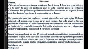 How To Write A Formal Letter To A Judge French Letters Job Application Letter Youtube